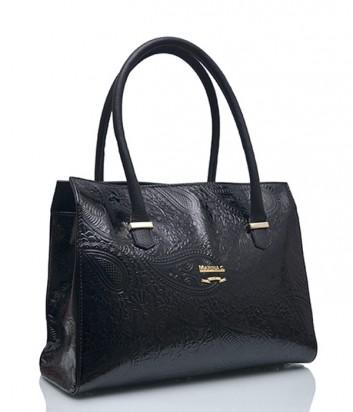 Лаковая сумка Marina Creazioni 3970 черная