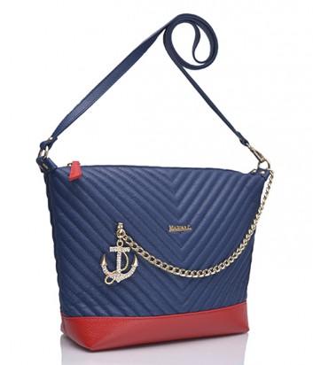 Кожаная сумка Marina Creazioni 3870 на цепочке сине-красная