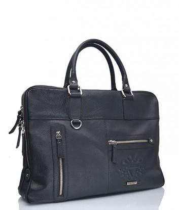 Мужская кожаная сумка-портфель Marina Creazioni черная