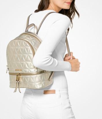 Рюкзак Michael Kors Rhea из стеганной кожи золотой
