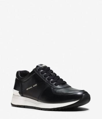 Кожаные кроссовки Michael Kors Allie черные