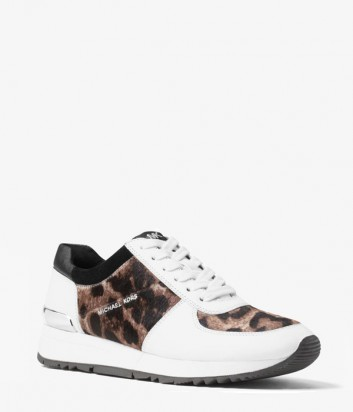 Белые кроссовки Michael Kors Allie с тигровым принтом