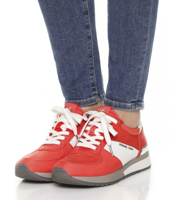 Кожаные кроссовки Michael Kors Allie коралловые
