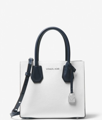 Кожаная сумка Michael Kors Mercer Color-Block комбинированная белая