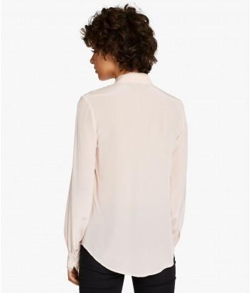 Шелковая блуза с плиссировкой Karl Lagerfeld цвета пудры