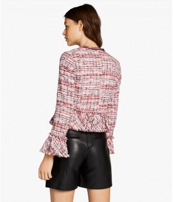 Твидовый пиджак Karl Lagerfeld KARL CAPITANO красный