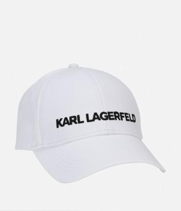 Бейсболка Karl Lagerfeld с логотипом белая