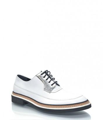 Туфли-броги Alexander McQueen из гладкой кожи белые