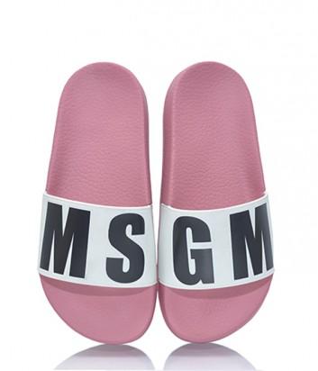 Белые пантолеты MSGM с розовой танкеткой