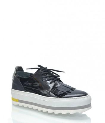 Лаковые туфли Iceberg на платформе черные