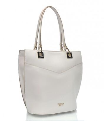 Белая сумка Tosca Blu из гладкой кожи с двойными ручками