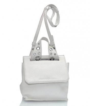 Кожаная сумка Alexander McQueen с длинным ремешком белая