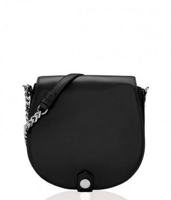 Большая сумка через плечо Karl Lagerfeld Chain полукруглой формы черная