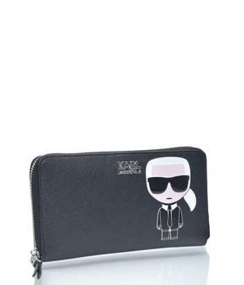 Женское портмоне Karl Lagerfeld Ikonik на молнии черное