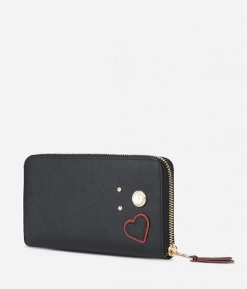 Женское портмоне Karl Lagerfeld Paris на молнии черное
