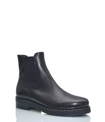 Кожаные ботинки Bruschi с эластичными вставками черные