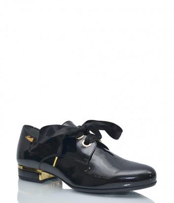 Лаковые туфли Loriblu с атласными шнурками черные