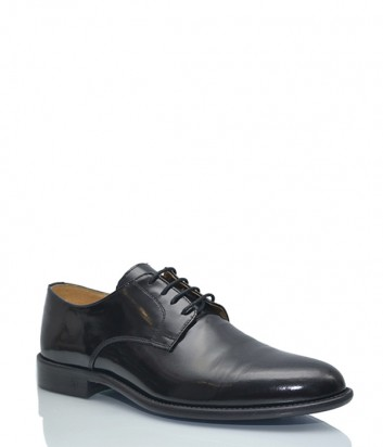 Лаковые мужские туфли Joyce на шнуровке черные