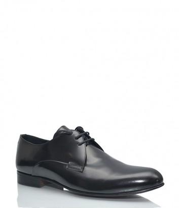 Лаковые мужские туфли Marechiaro на шнуровке черные