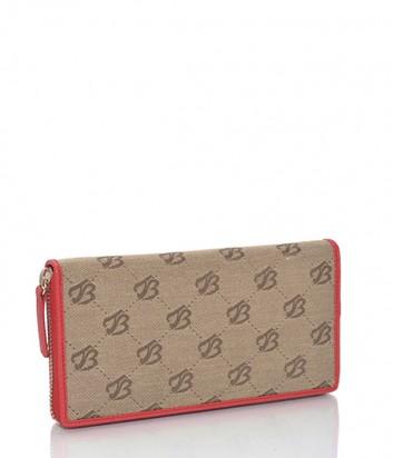 Женское кошелек Tosca Blu комбинированный с принтом красный