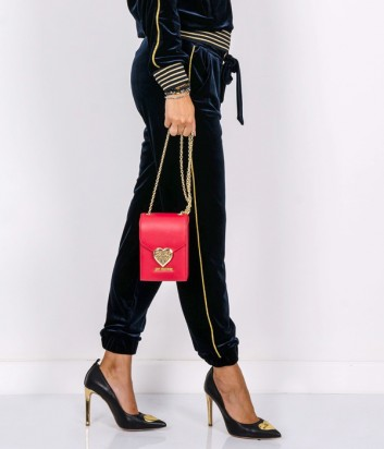 Велюровые брюки PINKO изумрудные с золотыми полосками