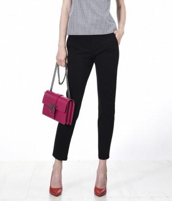 Укороченные брюки PINKO с карманами черные