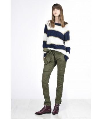 Женские брюки PINKO с завязкой на талии цвета хаки