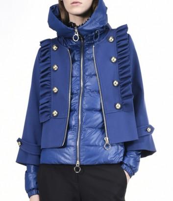 Куртка трансформер PINKO пуховик и пальто синяя