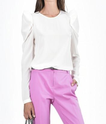 Шелковая блуза PINKO с длинным рукавом белая