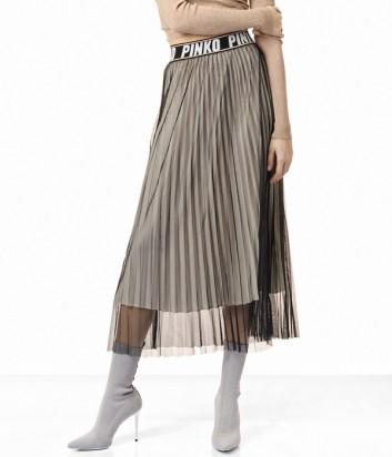 Юбка-плиссе PINKO с широкой брендированной резинкой