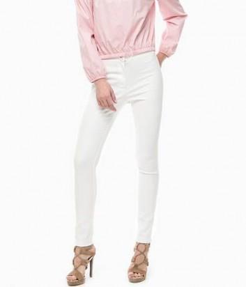 Классические укороченные брюки PINKO белые
