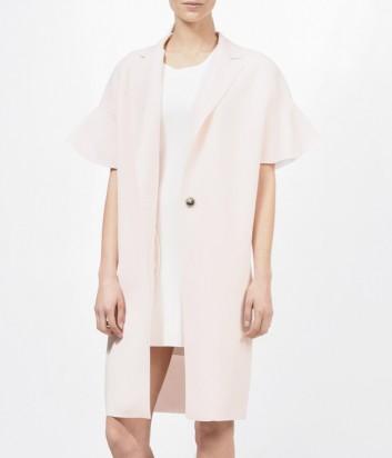 Пальто PINKO к короткими волнистыми рукавами цвета пудры