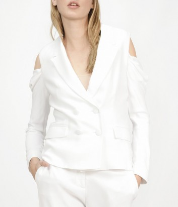 Пиджак PINKO с вырезами на плечах белый