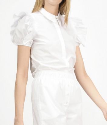 Блуза PINKO с пышными короткими рукавами белая