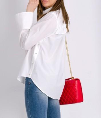 Белая рубашка PINKO с нежными рюшами на спине
