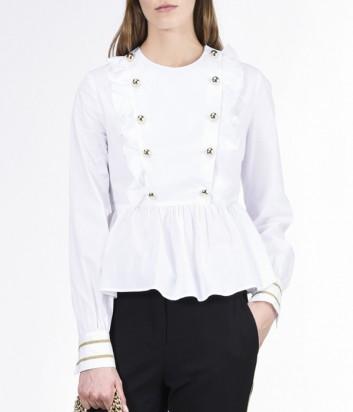 Нарядная белая рубашка PINKO с пуговицами в два ряда
