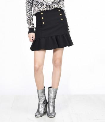 Черная юбка колокольчик PINKO с пуговицами в два ряда