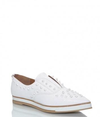 Кожаные туфли Zinda 2982 с заостренным носком белые