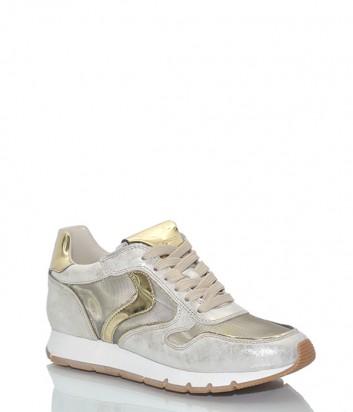 Кожаны кроссовки Voile Blanche 2012438 золотистые