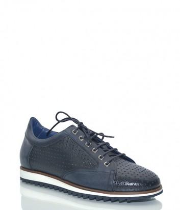 Кожаные кроссовки Mario Bruni 61196 с перфорацией черные