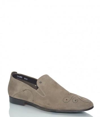 Замшевые туфли Mario Bruni 59480 с перфорированным узором