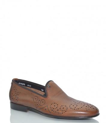Кожаные туфли Mario Bruni 60802 рыжие