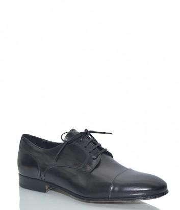 Мужские туфли Mario Bruni 59639 в гладкой коже черные