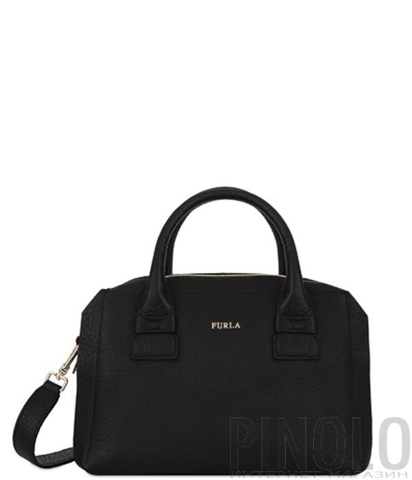 a4107136452d Маленькая сумка через плечо Furla Cometa 993102 в стеганной коже черная -  купить в Интернет-магазине PINOLO