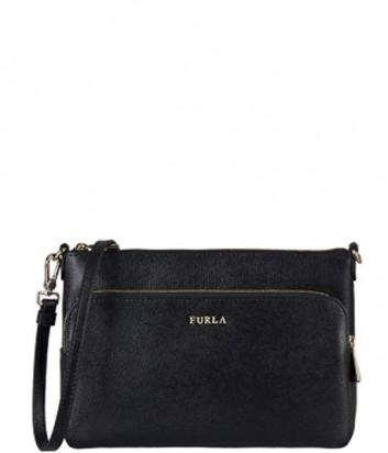 Сумка через плечо Furla Royal 756588 с внешним карманом черная