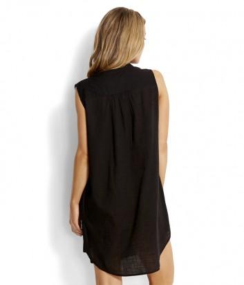 Хлопковая туника-платье Seafolly 53127-CU черная