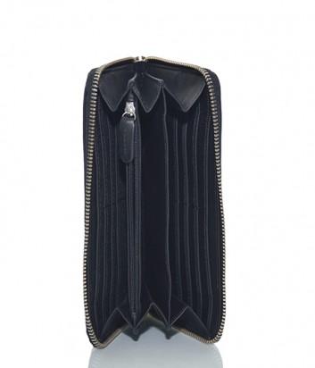 Большое кожаное портмоне Dirk Bikkembergs 7BD9107 на молнии черное