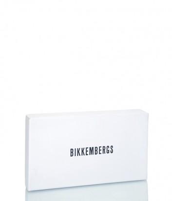 Большое кожаное портмоне Dirk Bikkembergs 6AD3609 с тиснением черное