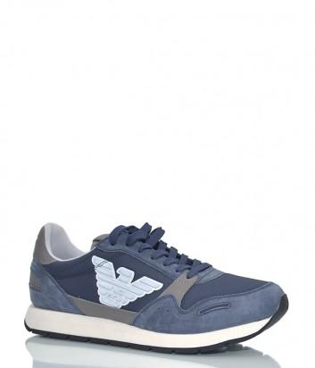 Мужские кроссовки Emporio Armani 890 синие