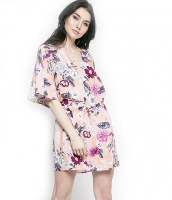 Легкое платье Seafolly 53200-KA розовое с цветочным принтом